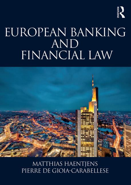 European Banking and Financial Law book cover