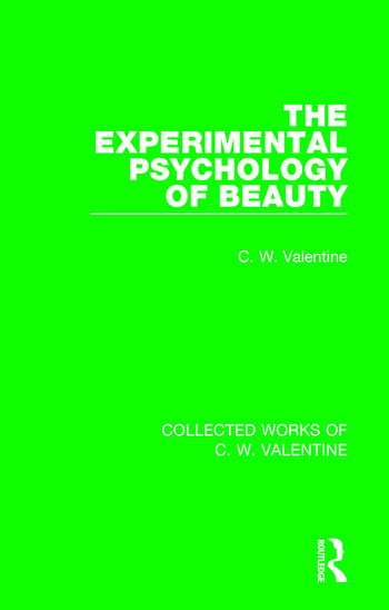 The Experimental Psychology of Beauty book cover