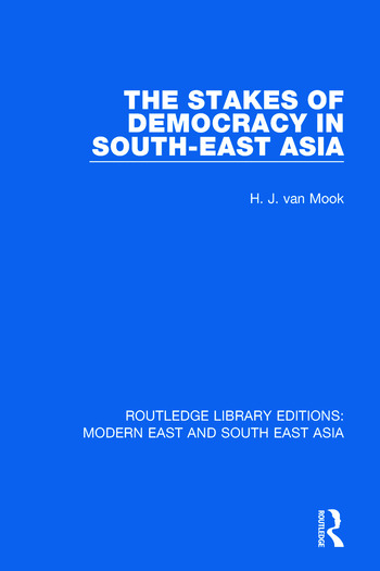 The Stakes of Democracy in South-East Asia book cover