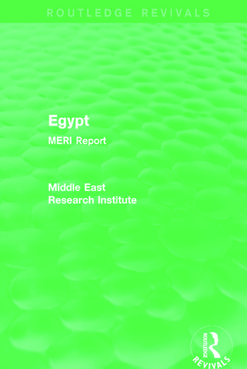 Egypt (Routledge Revival) MERI Report book cover