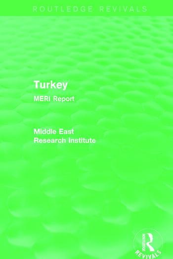 Turkey (Routledge Revival) MERI Report book cover
