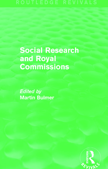 Social Research and Royal Commissions (Routledge Revivals) book cover