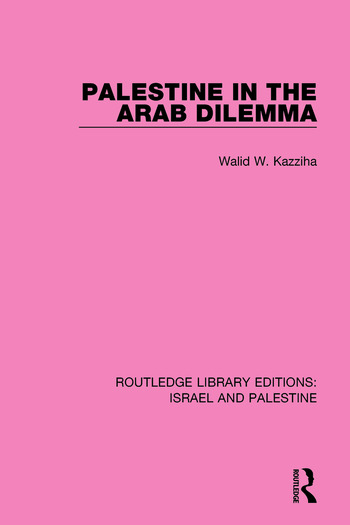 Palestine in the Arab Dilemma book cover