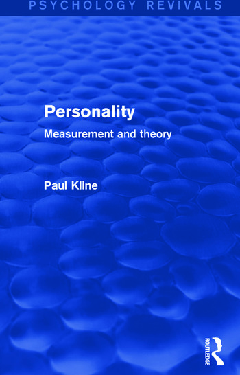 Personality Measurement and Theory book cover