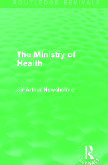 The Ministry of Health (Routledge Revivals) book cover