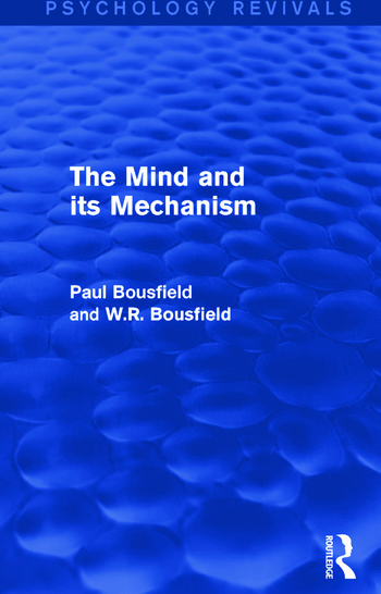 The Mind and its Mechanism book cover