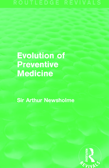 Evolution of Preventive Medicine (Routledge Revivals) book cover