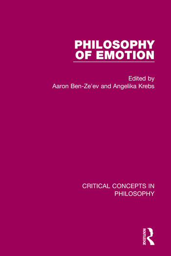 Philosophy of Emotion book cover