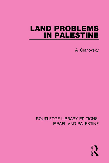 Land Problems in Palestine book cover