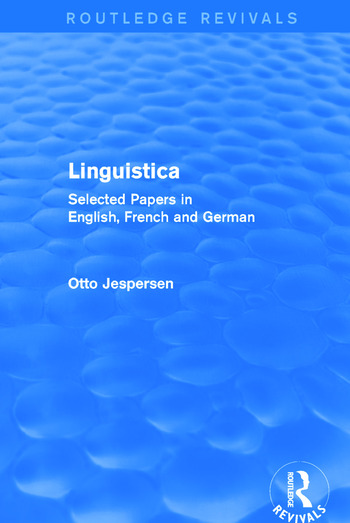 Linguistica (Routledge Revivals) Selected Papers in English, French and German book cover