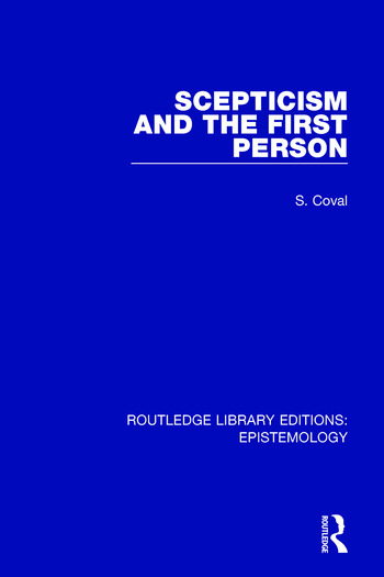Scepticism and the First Person book cover