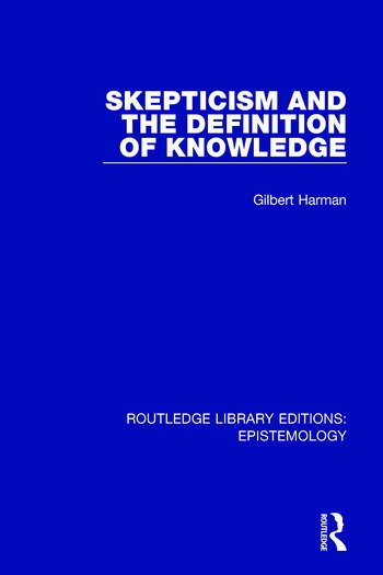 Skepticism and the Definition of Knowledge book cover