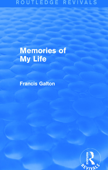 Memories of My Life (Routledge Revivals) book cover
