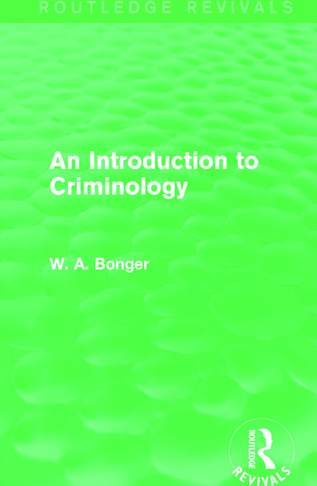 An Introduction to Criminology (Routledge Revivals) book cover