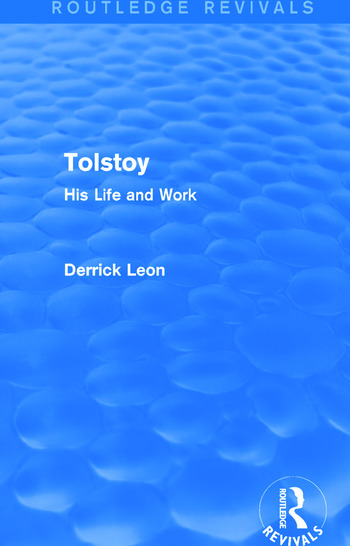 Tolstoy (Routledge Revivals) His Life and Work book cover