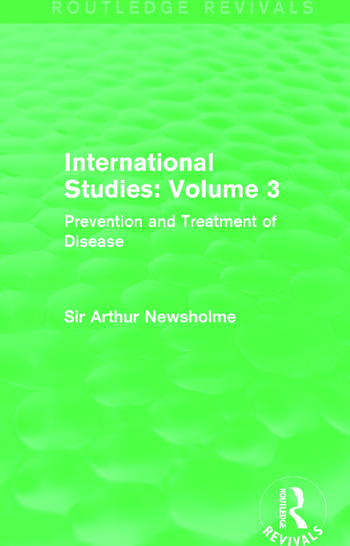 International Studies: Volume 3 Prevention and Treatment of Disease book cover