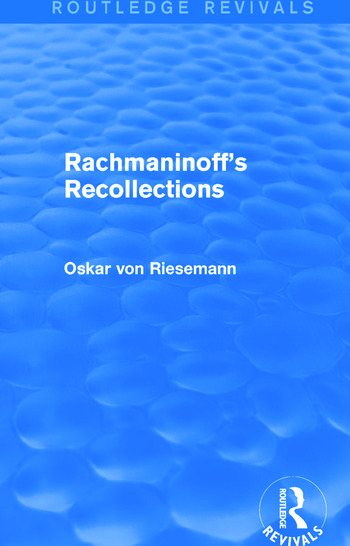 Rachmaninoff's Recollections book cover