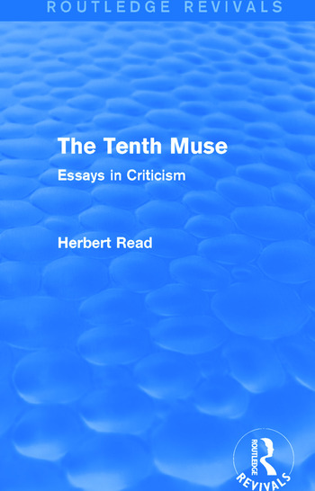 The Tenth Muse (Routledge Revivals) Essays in Criticism book cover