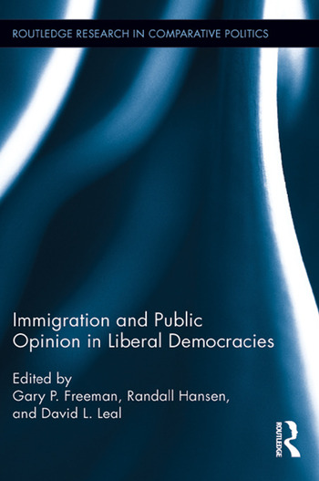 Immigration and Public Opinion in Liberal Democracies book cover