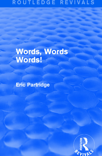 Words, Words Words! book cover