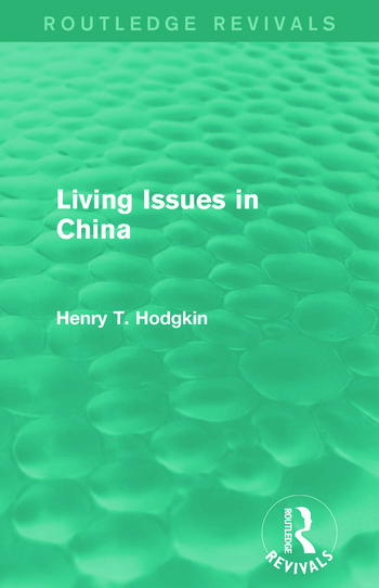 Living Issues in China (Routledge Revivals) book cover