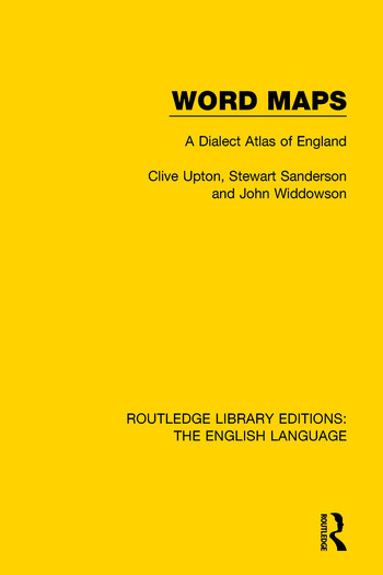 Word Maps A Dialect Atlas of English book cover