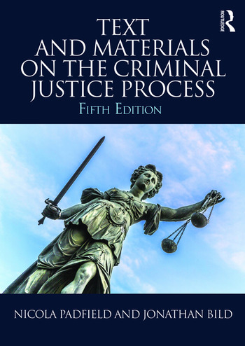 Text and Materials on the Criminal Justice Process book cover