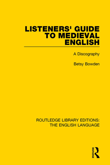 Listeners' Guide to Medieval English A Discography book cover