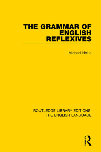 The Grammar of English Reflexives book cover