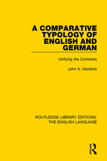 A Comparative Typology of English and German Unifying the Contrasts book cover
