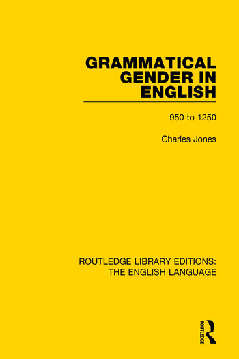 Grammatical Gender in English 950 to 1250 book cover