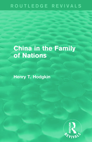 China in the Family of Nations (Routledge Revivals) book cover