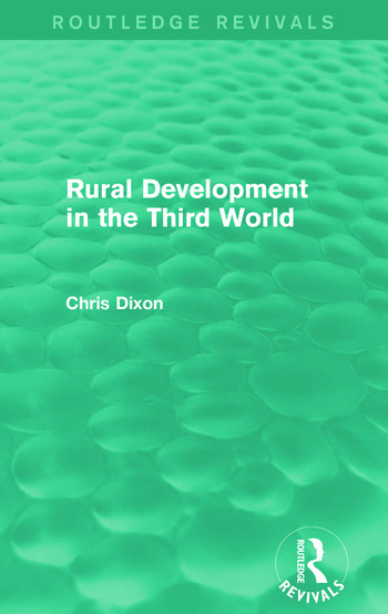 Rural Development in the Third World (Routledge Revivals) book cover