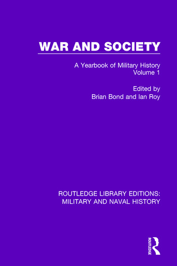 War and Society Volume 1 A Yearbook of Military History book cover
