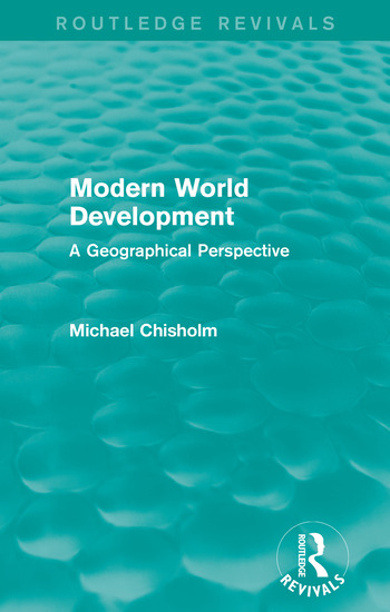 Modern World Development A Geographical Perspective book cover