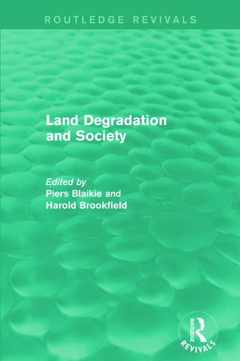 Land Degradation and Society book cover