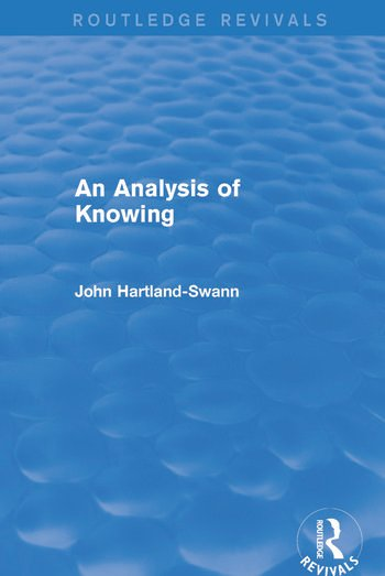 An Analysis of Knowing