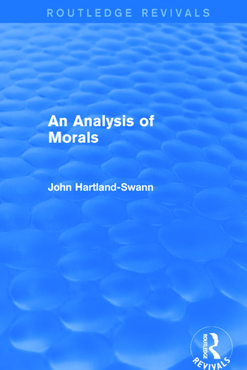 An Analysis of Morals book cover