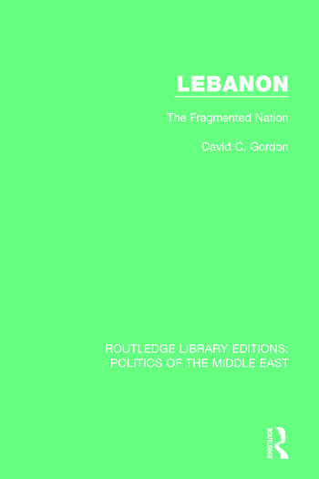 Lebanon The Fragmented Nation book cover