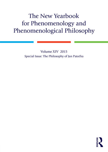 The New Yearbook for Phenomenology and Phenomenological Philosophy Volume 14, Special Issue: The Philosophy of Jan Patočka book cover