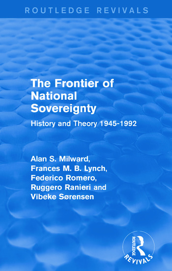 The Frontier of National Sovereignty History and Theory 1945-1992 book cover