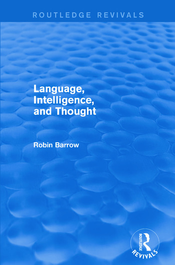 Language, Intelligence, and Thought book cover
