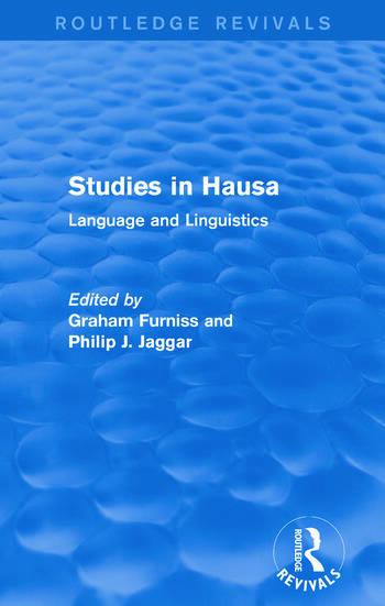 Studies in Hausa Language and Linguistics book cover