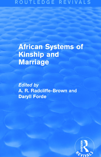 African Systems of Kinship and Marriage book cover