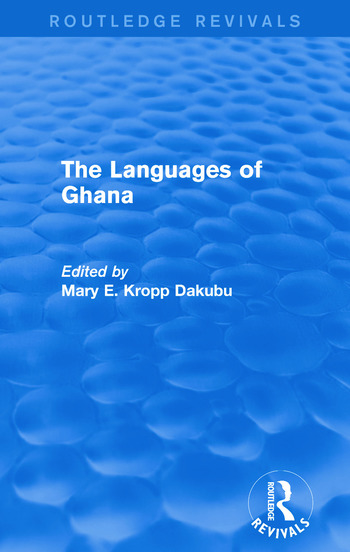 The Languages of Ghana book cover