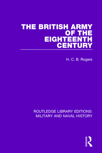 The British Army of the Eighteenth Century book cover