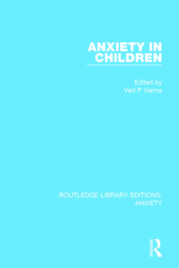 Anxiety in Children book cover