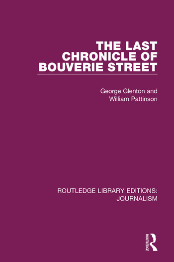 """The Last Chronicle of Bouverie Street On the Closure of the """"News Chronicle"""" and the """"Star"""" book cover"""