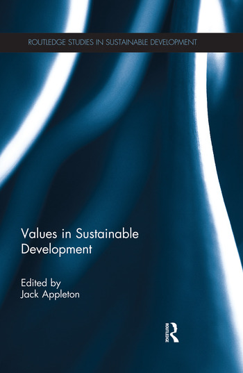 Values in Sustainable Development book cover
