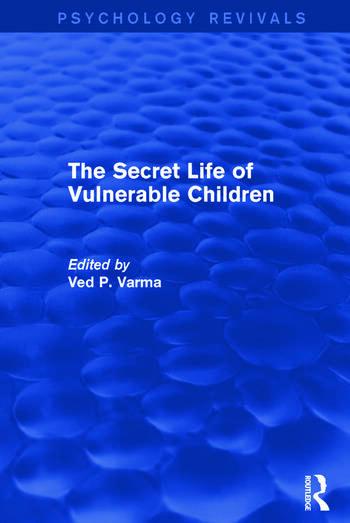 The Secret Life of Vulnerable Children book cover